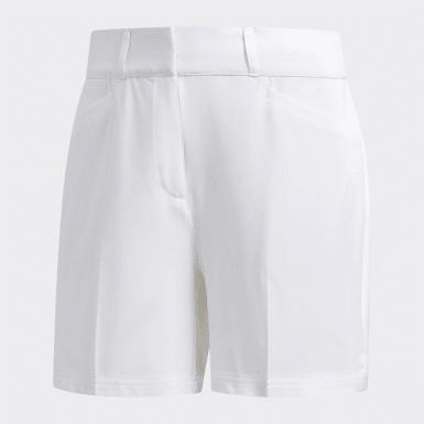 Women Golf White 5-Inch Shorts