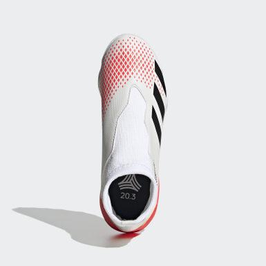 Jongens Voetbal Wit Predator 20.3 Turf Voetbalschoenen