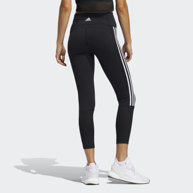 Women Training Black Believe This 2.0 3-Stripes Ribbed 7/8 Tights