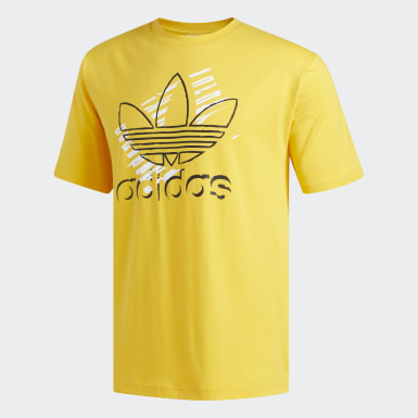 Erkek Originals Altın Trefoil Art Tişört