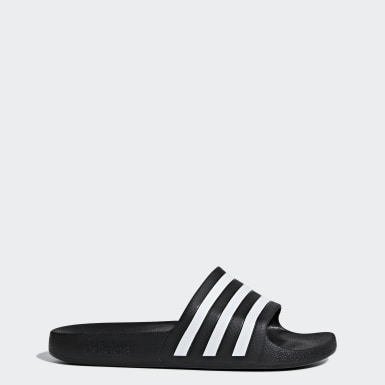 Men Swimming Black Adilette Aqua Slides