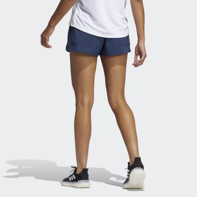 Women Training Blue Pacer Badge of Sport Woven Shorts