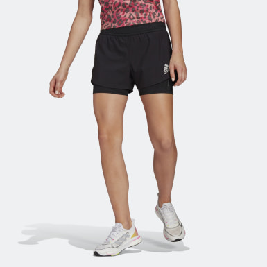 Frauen Running Fast Primeblue Two-in-One Shorts Schwarz