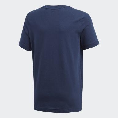 Boys Sport Inspired Blue DMH Logo Tee