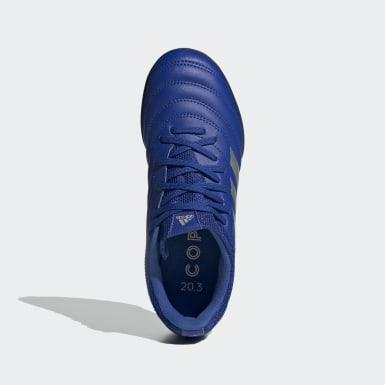 Calzado de Fútbol Copa 20.3 Pasto Sintético Azul Niño Fútbol