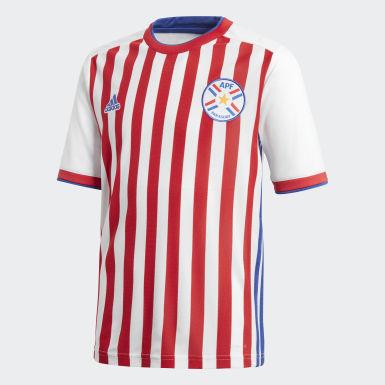 Домашняя игровая футболка сборной Парагвая