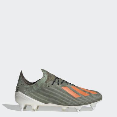 Zapatos de Fútbol X 19.1 Terreno Suave Verde Hombre Fútbol