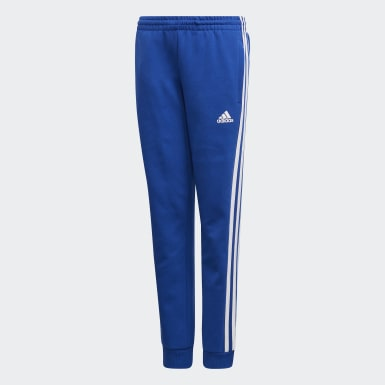Boys Training Blue Must Haves 3-Stripes Joggers