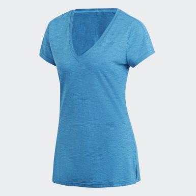 Kadın Athletics Turquoise ID Winners V Yakalı Tişört