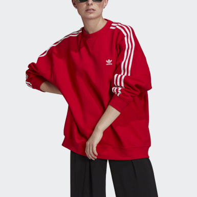 Women Originals Red Adicolor Classics Oversize Sweatshirt