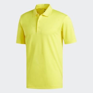 Playera Polo Performance Amarillo Hombre Golf