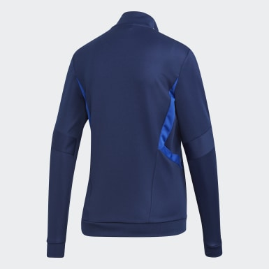 Veste d'entraînement Tiro 19 bleu Femmes Soccer
