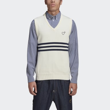 Heren Originals Wit HM Knit Spencer