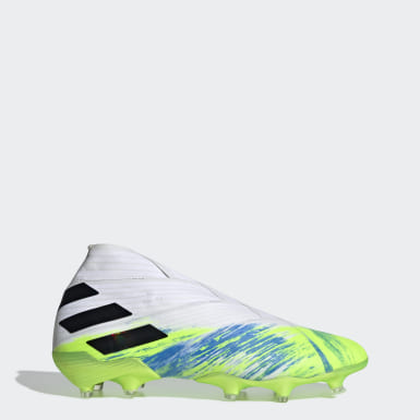 Football White Nemeziz 19+ Firm Ground Boots