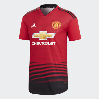 Men Football Red Manchester United Home Authentic Jersey
