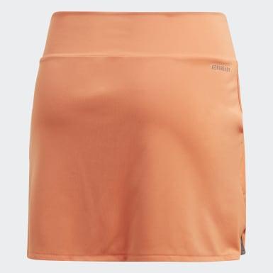 Meisjes Padel Tennis Oranje Club Rok