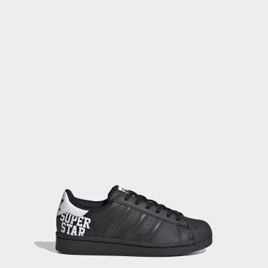 Kids Originals Black Superstar Shoes