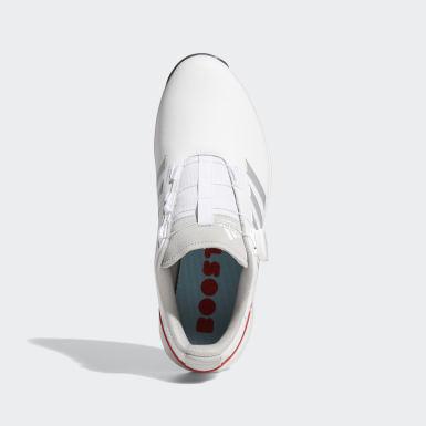 ผู้ชาย กอล์ฟ สีขาว รองเท้ากอล์ฟ EQT BOA
