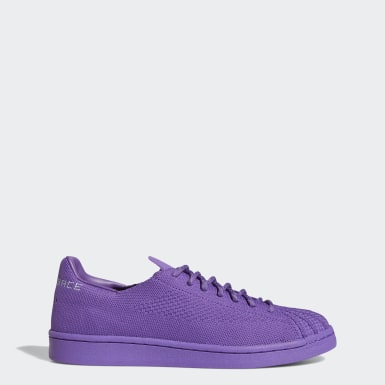 Originals paars Pharrell Williams Superstar Primeknit Schoenen