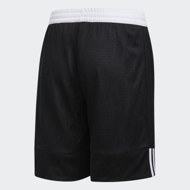 Kids 4-8 Years Basketball Black 3G Speed Reversible Shorts
