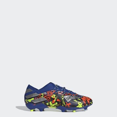 Børn Fodbold Blå Nemeziz Messi 19.1 Firm Ground støvler