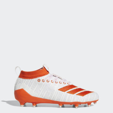 Men's Football White Adizero 8.0 Cleats