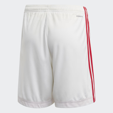 Kids Football White Ajax Amsterdam Home Shorts