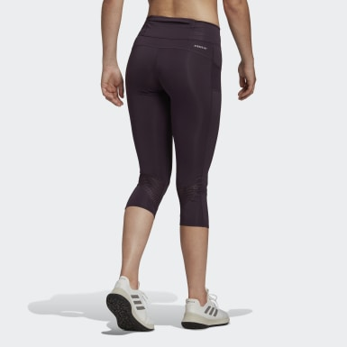 Women Running Purple Own the Run 3/4 Tights