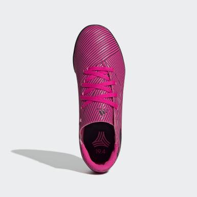 Children Football Pink Nemeziz 19.4 Turf Boots