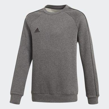 Sweat-shirt Core 18 Gris Enfants Training