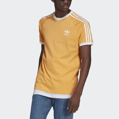 Men Originals Orange Adicolor Classics 3-Stripes T-Shirt