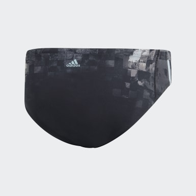 Men Swimming Black Pro 3-Stripes Swim Trunks