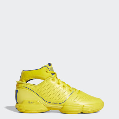 Men Basketball Yellow Adizero Rose 1 Wolverines Shoes