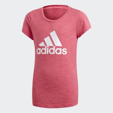 เด็กผู้หญิง ไลฟ์สไตล์ สีชมพู เสื้อยืด ID Winner