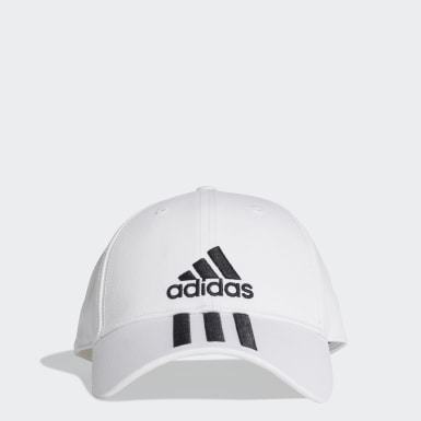 Gorra 3 Rayas Classic Six-Panel Blanco Training