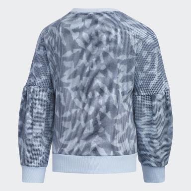 Girls Training Blue Crewneck Sweatshirt