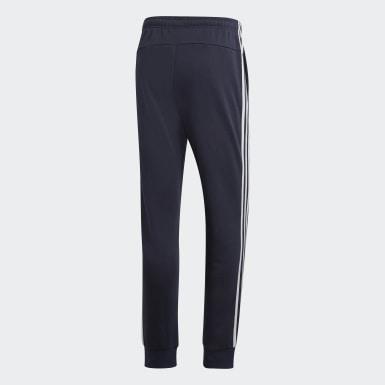 Männer Athletics Essentials 3-Streifen Tapered Cuffed Hose Blau