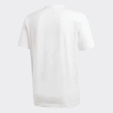 Men Athletics White Essentials Plain Tee