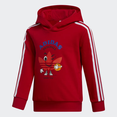 Kids 4-8 Years Originals Red Hoodie Set