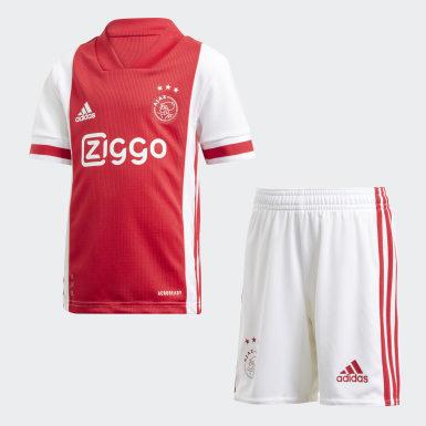 Παιδιά Ποδόσφαιρο Λευκό Ajax Αmsterdam Home Mini Kit