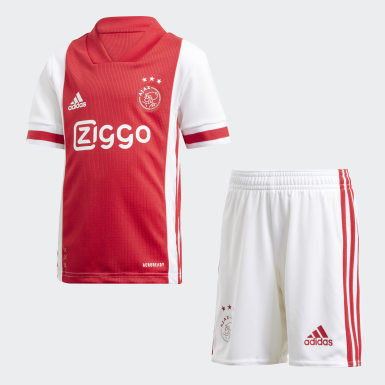 Kids Football White Ajax Amsterdam Home Mini Kit