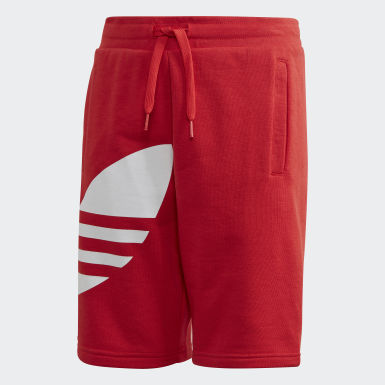 Youth Originals Red Big Trefoil Shorts