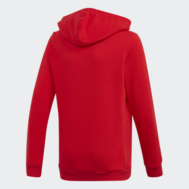 Sudadera con capucha Must Haves Badge of Sport Rojo Niño Training