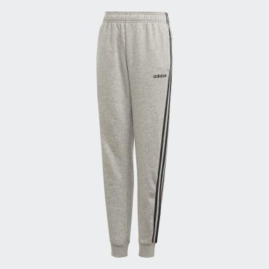 Kluci Athletics šedá Kalhoty Essentials 3-Stripes