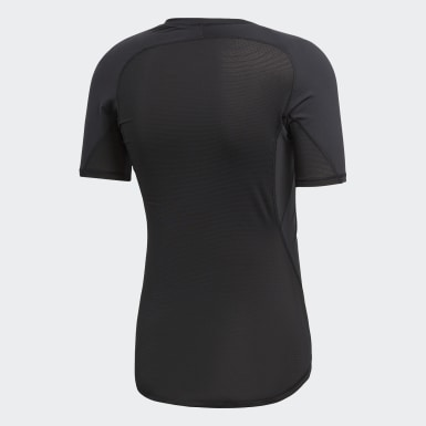 Remera Alphaskin Sport Negro Hombre Rugby