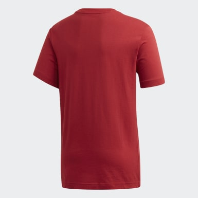 Polera Essentials Linear Logo Burgundy Niño Training