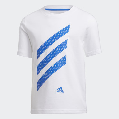 Children Training White Sport Stripe Tee