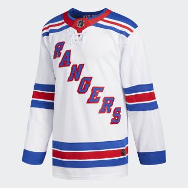Maillot Rangers Extérieur Authentique Pro multicolore Hommes Hockey
