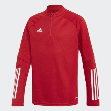 Sudadera entrenamiento Condivo 20 Rojo Niño Fútbol