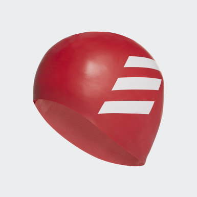 Plávanie červená Čiapka 3-Stripes